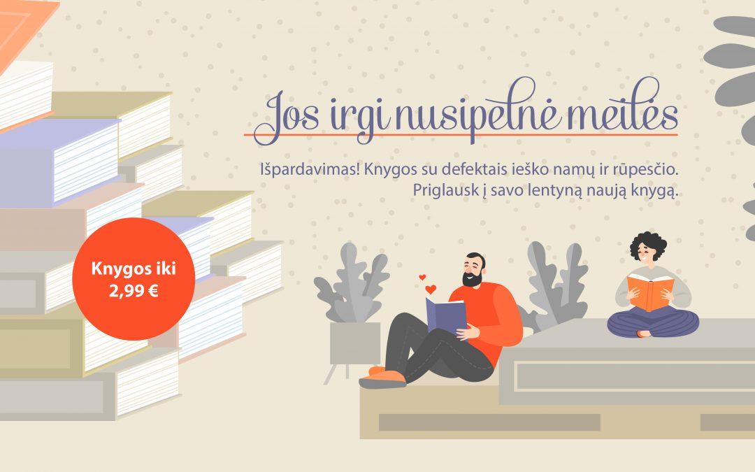 Knygos su defektais iki 2,99 Eur!