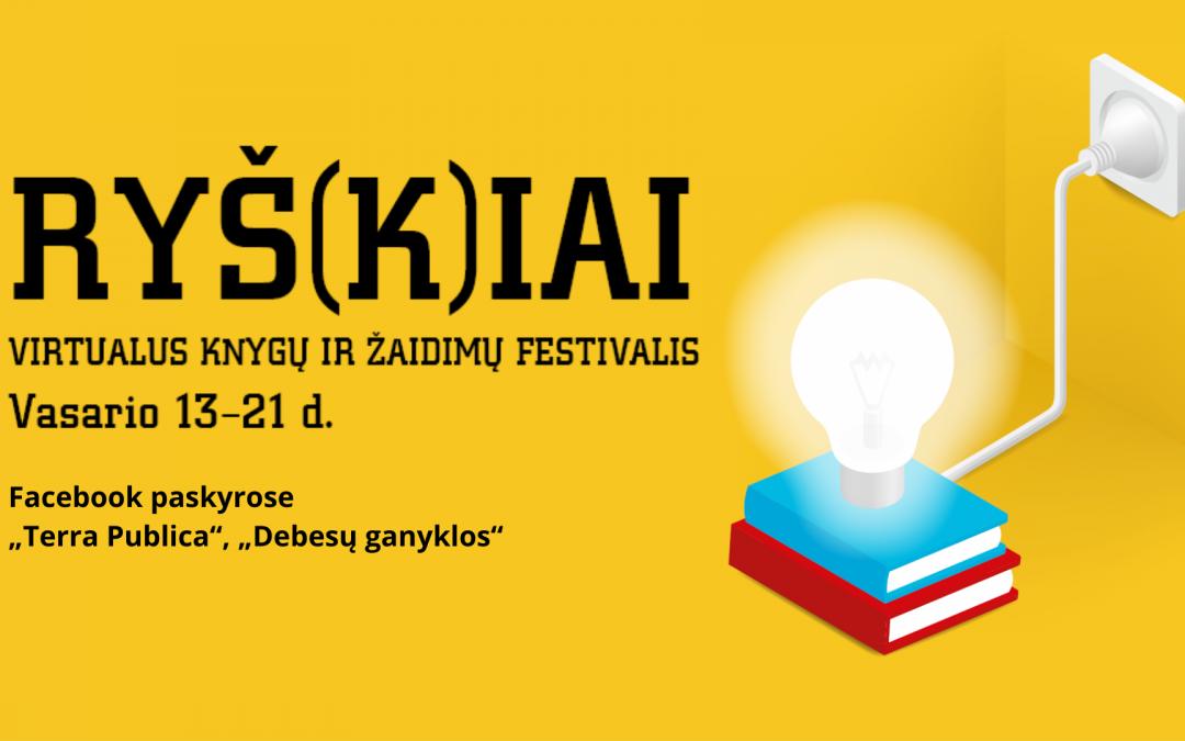 Virtualus knygų ir žaidimų festivalis RYŠ(K)IAI